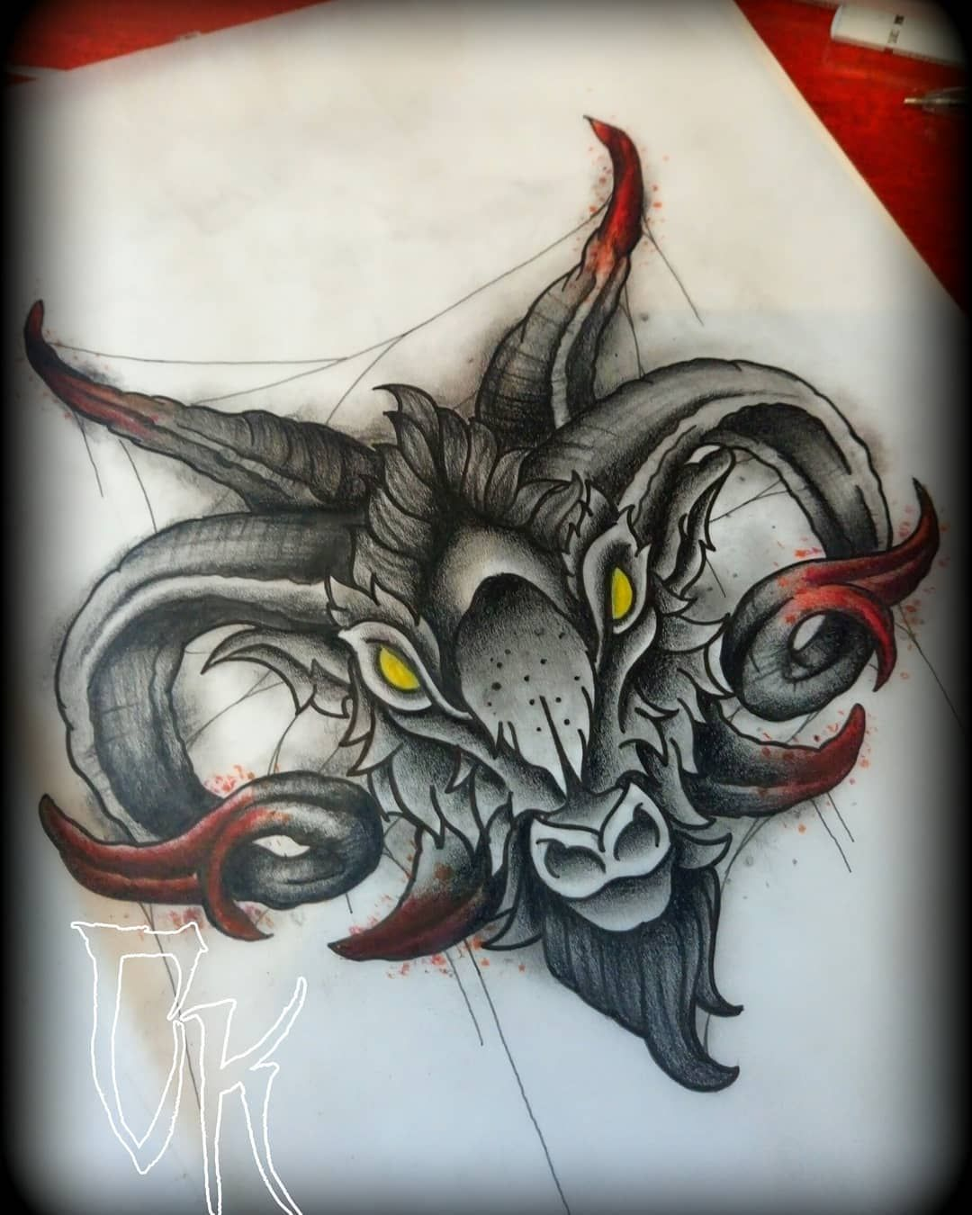 clip transparent Baphomet drawing traditional. A neo tattoo design