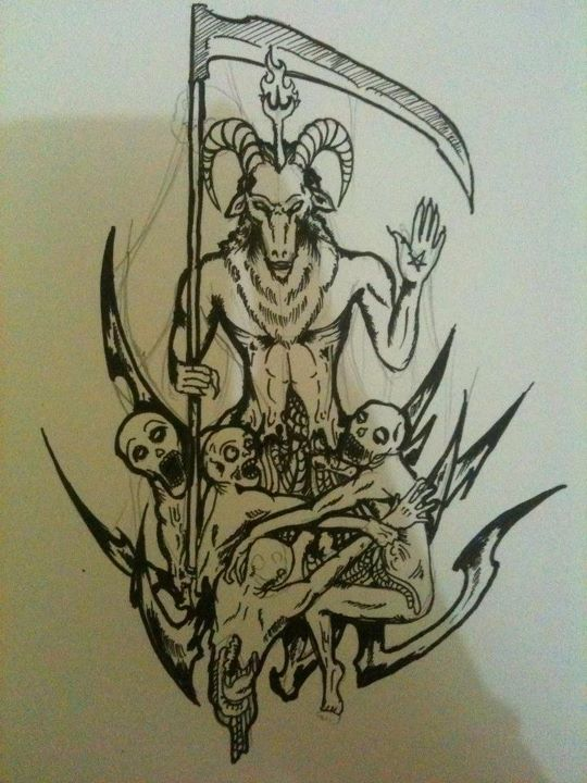 clipart Baphomet drawing traditional. Trying to draw by