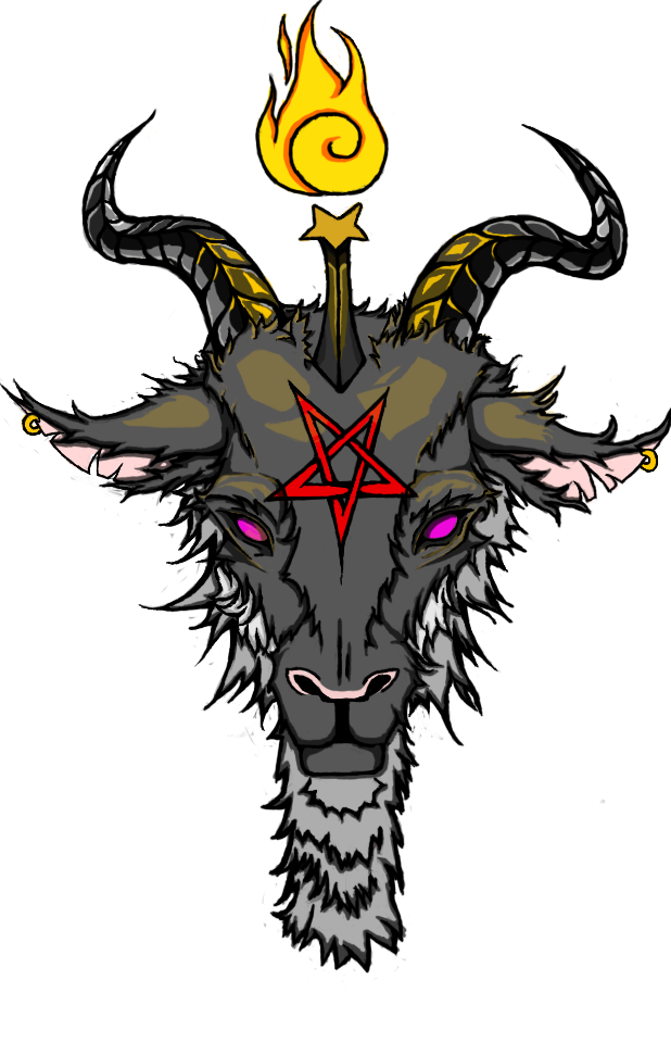 clip transparent stock Baphomet FullColor by kevinbacon