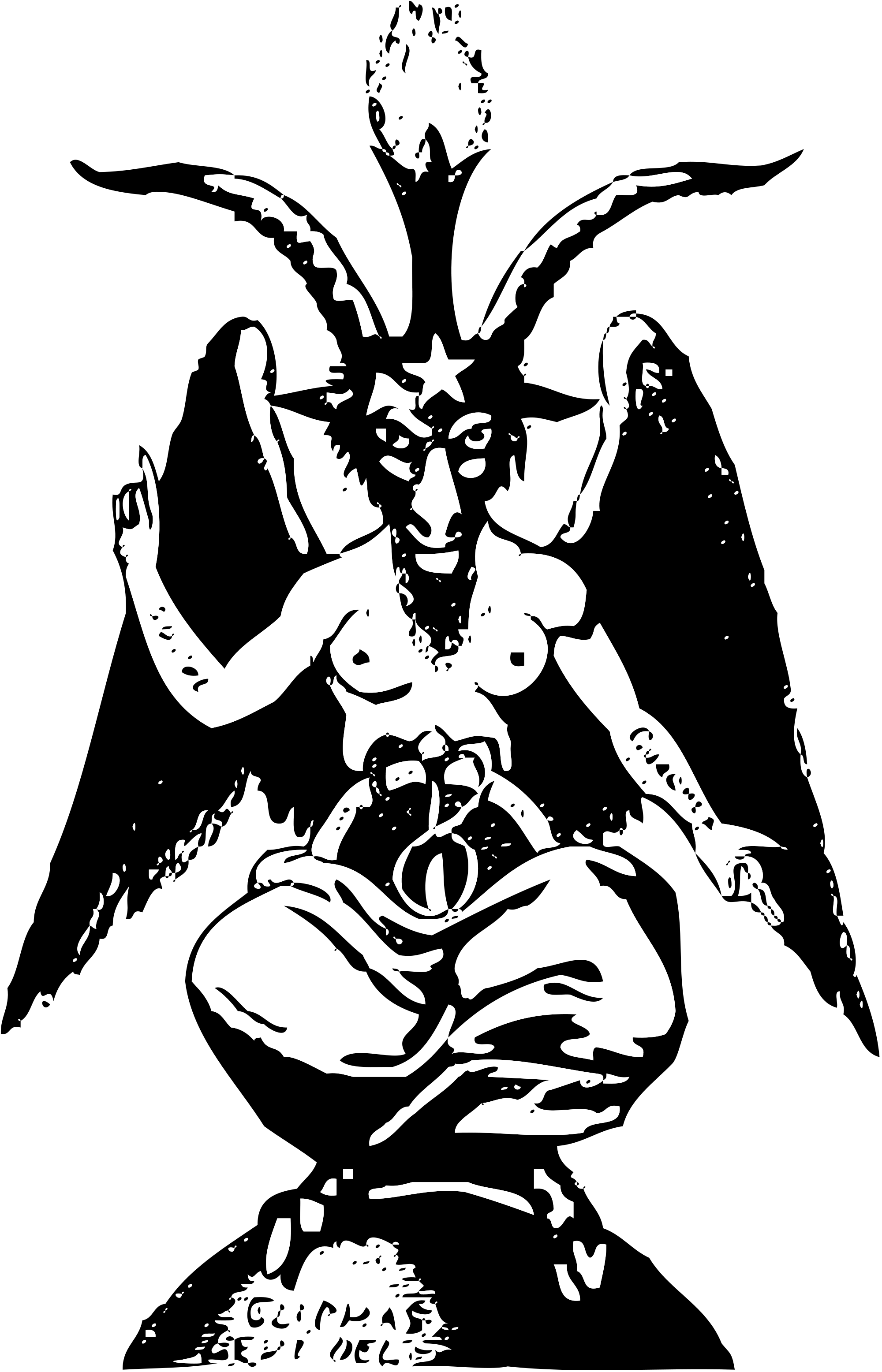 graphic transparent Baphomet drawing. File small svg wikimedia