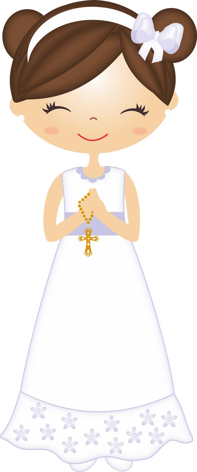 picture transparent Baptism clipart first communion. De nenas en su.