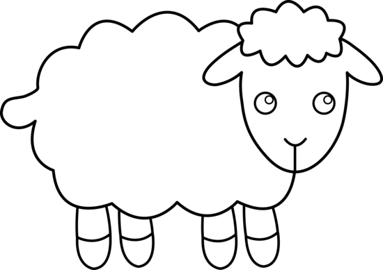 jpg transparent download Lamb clipart fluffy sheep. Black and white of.