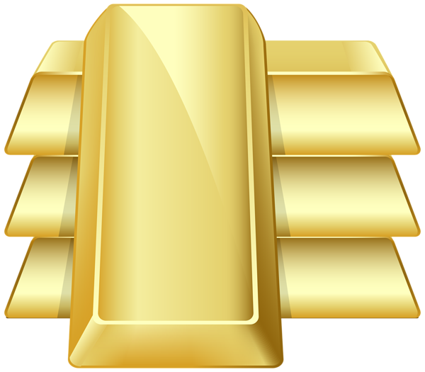 clip transparent download Gold biscuit free on. Bar clipart