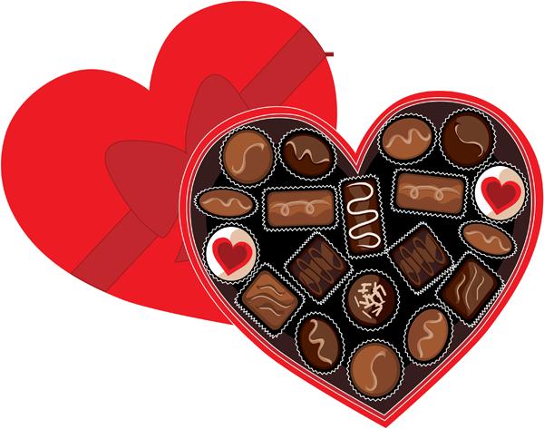 clip art library Valentine chocolate code. Box clipart chocolates