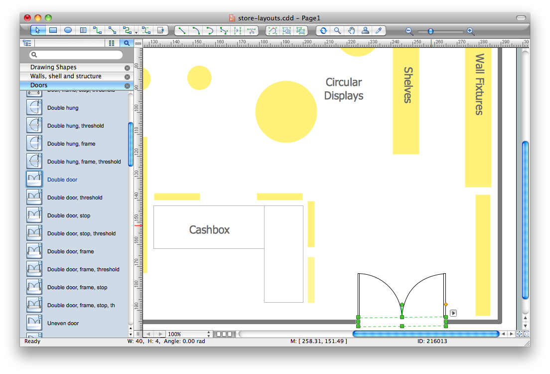 free library Layout software how to. Drawing store interior