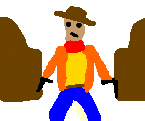 clip art royalty free stock Cowboy Entering Old Western Bar