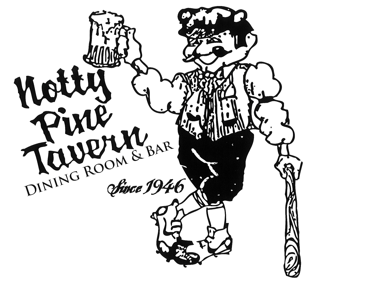 graphic stock Notty Pine Tavern