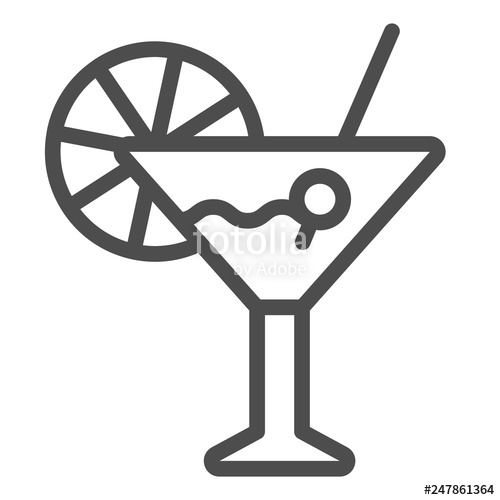 picture free download Bar vector. Cocktail line icon illustration