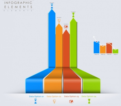 clipart freeuse Vector charts graphical.  d bar chart
