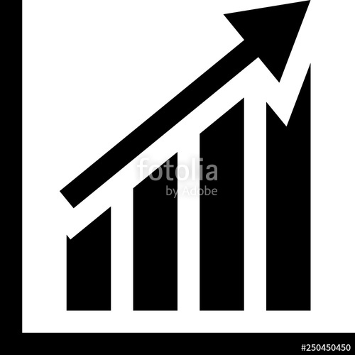clip library Bar vector chart. Uptrend stock image and