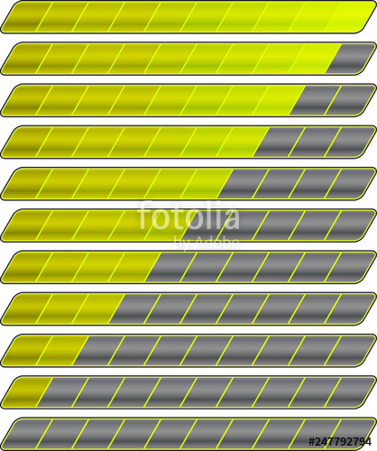 black and white stock Bar vector colorful. Progress set stock image