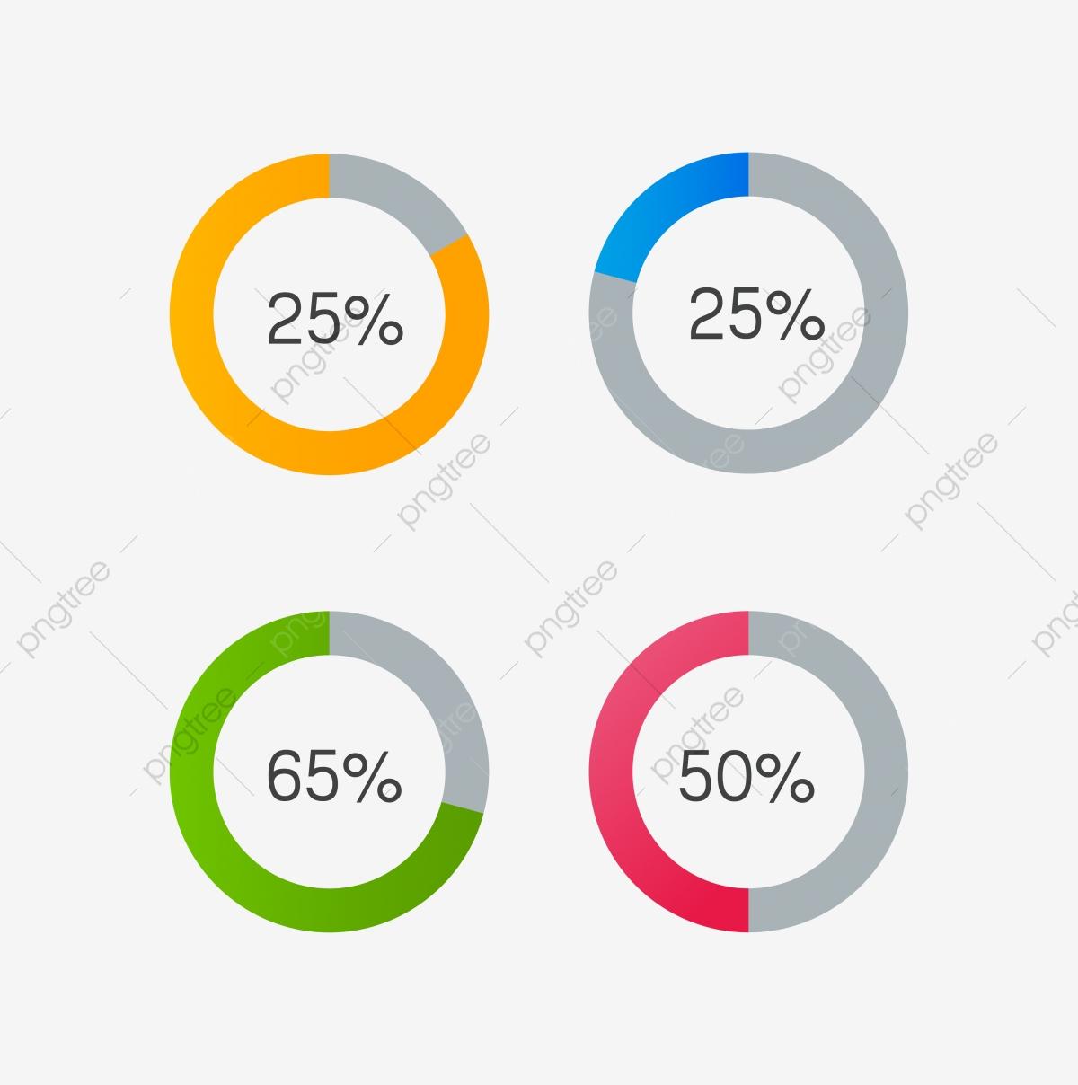 stock Circle progress png and. Bar vector colorful