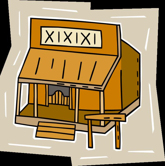 image freeuse download Western saloon image illustration. Bar vector house
