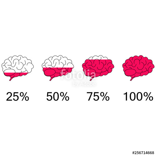 image black and white stock Bar vector illustration. Brain pink marrow progress