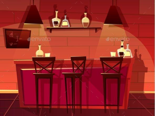 png freeuse library Bar vector pub. Counter interior cartoon caricatures