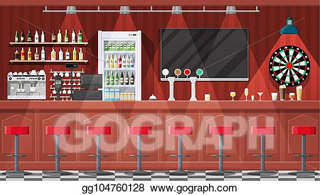 graphic royalty free library Clipart interior of cafe. Bar vector pub