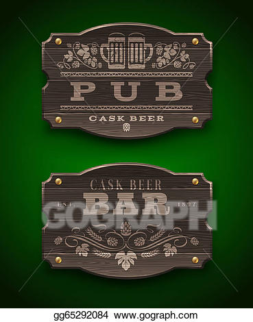 png free stock Bar vector pub. Eps illustration wooden signs