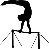 graphic free Uneven bars of. Bar vector silhouette