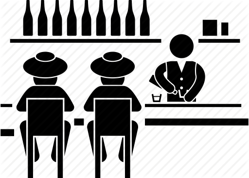 black and white library  png for free. Bar vector silhouette