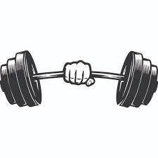 clip art black and white library Image result for gym. Bar vector weight
