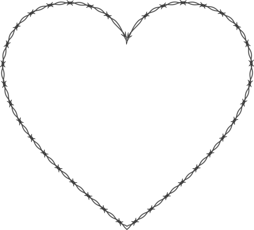 image black and white Barb wire clipart pixel art. Line drawing heart computer.
