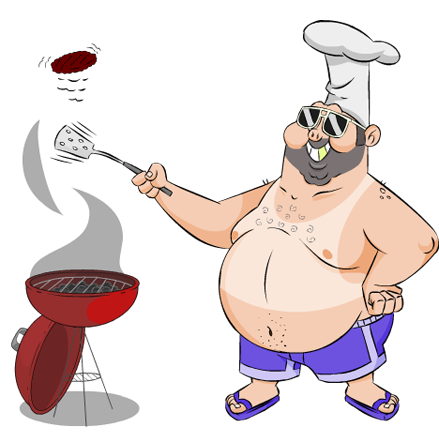 vector black and white download barbecue clipart backyard bbq #76351359
