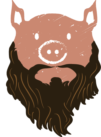 vector transparent download Bearded One BBQ