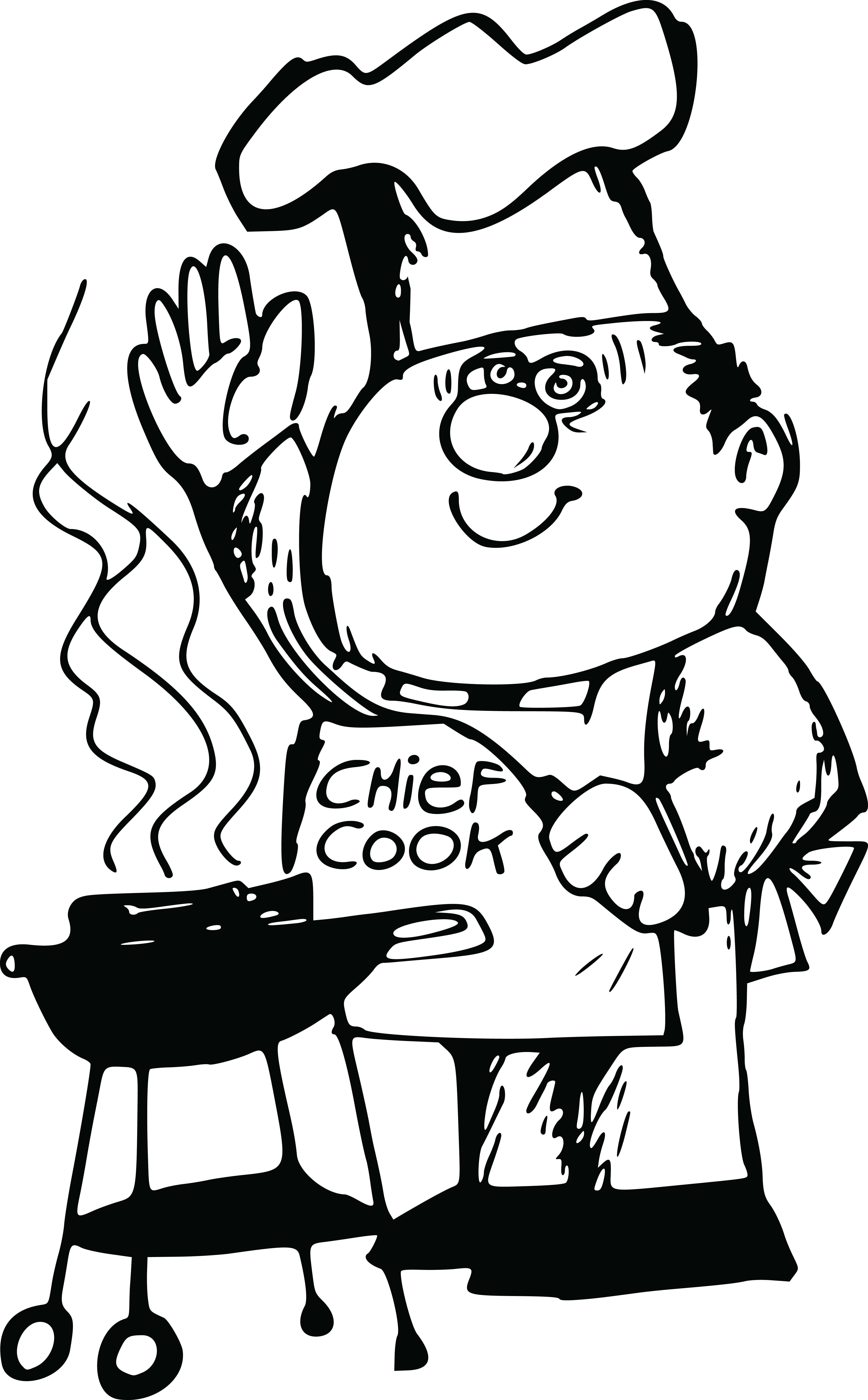 banner free stock Grilling clipart chat. Black and white bbq