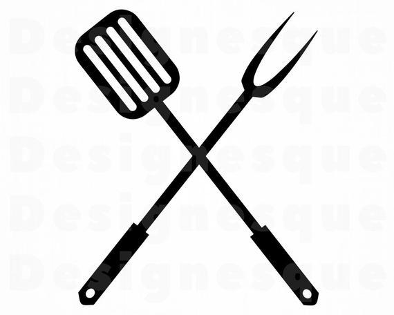 jpg transparent Grill svg logo. Bbq spatula grilling clipart