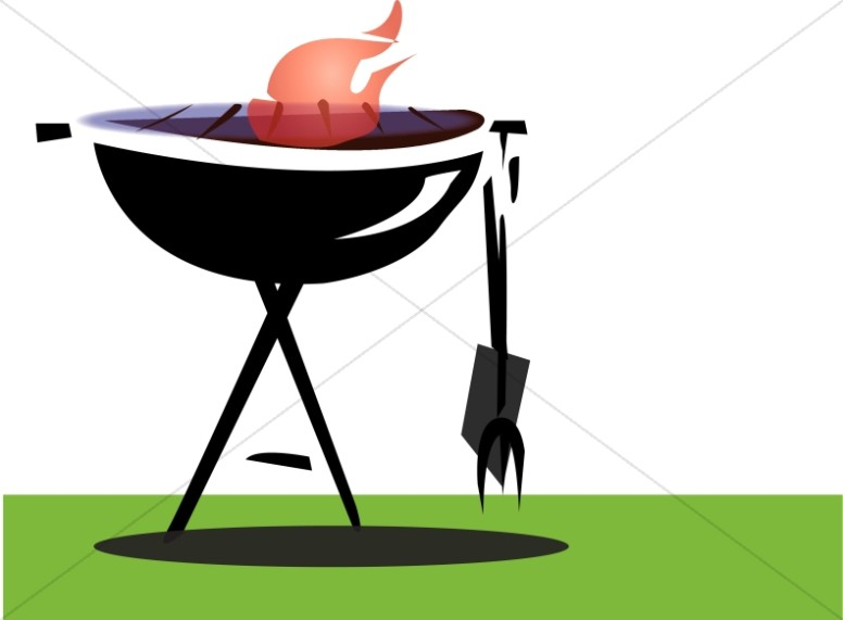 svg freeuse stock Christian summer camp. Barbecue clipart youth