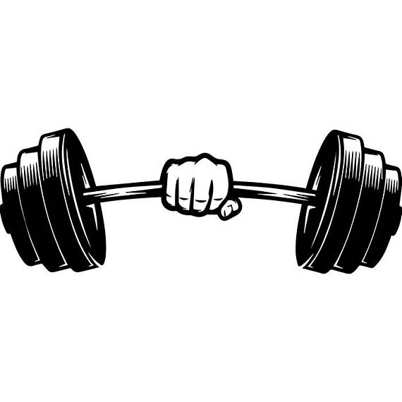 image library download Barbell clipart. Weightlifting bar .