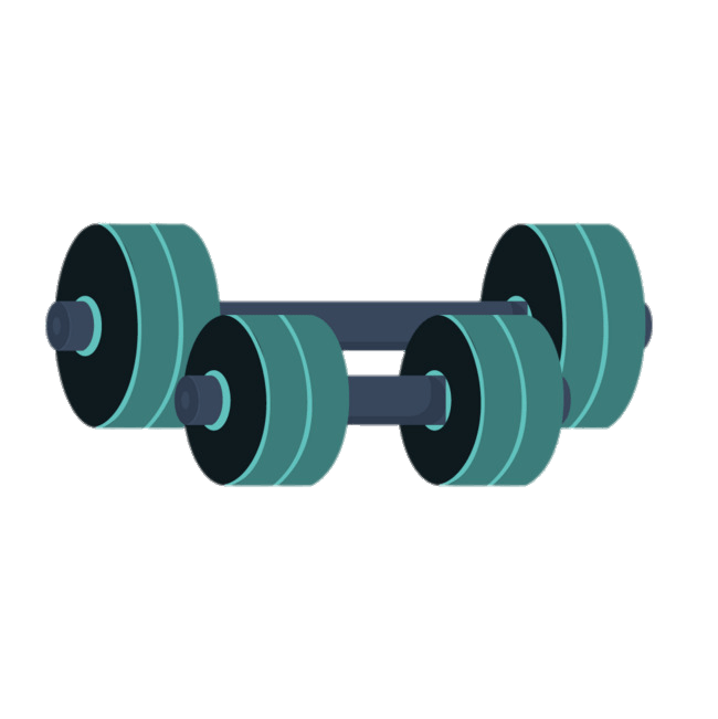 clip free Green barbells transparent png. Barbell clipart.