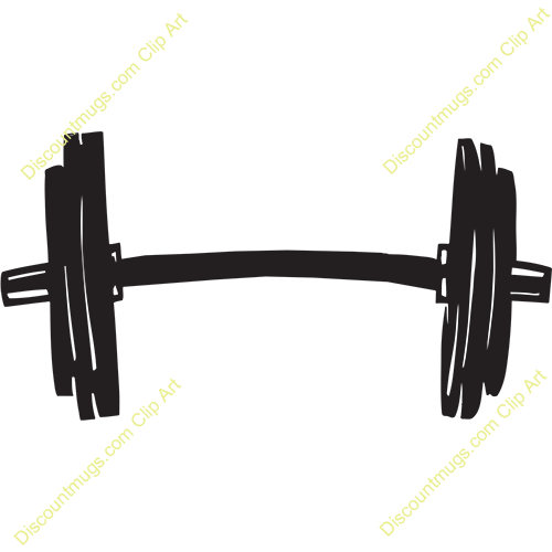 vector library library Weight plates curved free. Barbell clipart.