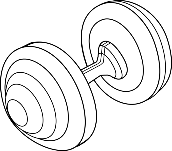 clip art free stock Barbell Weight Line Art