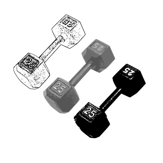 banner royalty free stock Dumbbell clip art hand. Barbell clipart gym weight.