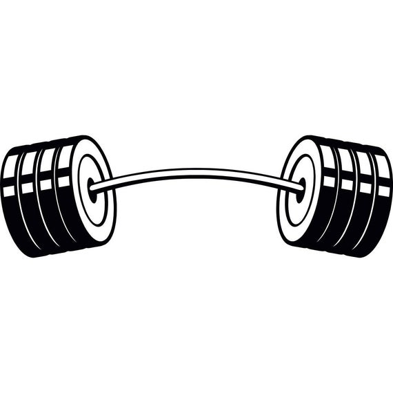 free library Barbell clipart gym weight. Curved bar weightlifting bodybuilding.