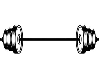 clipart transparent library . Barbell clipart gym weight.