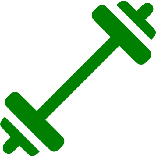 banner free library Green barbell icon