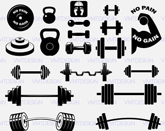 vector royalty free library Barbell clipart svg. Transparent free for .