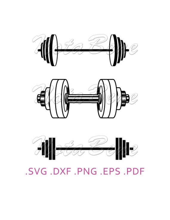 graphic stock Pin on products . Barbell clipart svg.