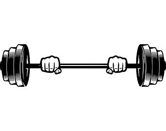 transparent download Barbell clipart weight training.