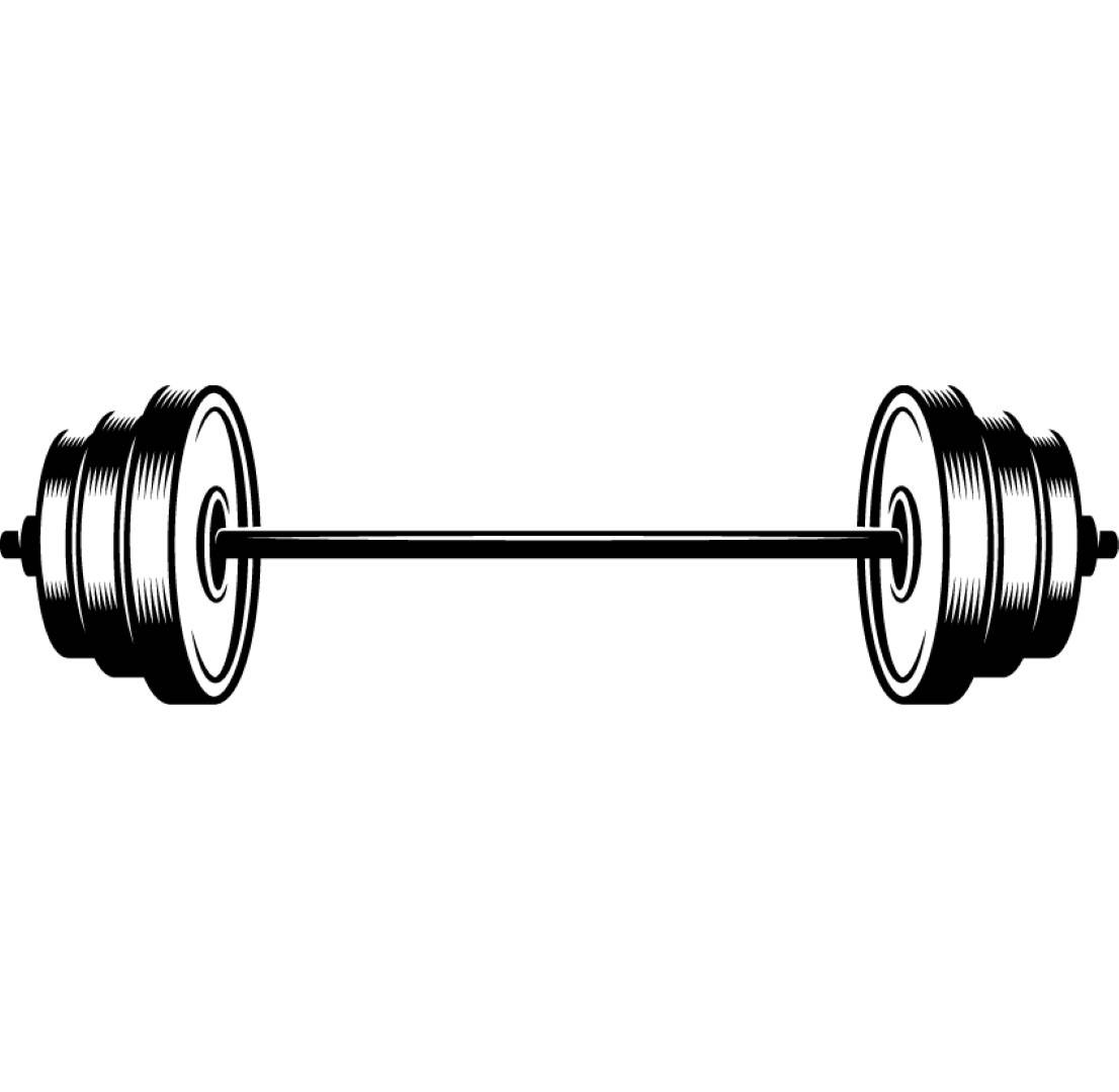 svg library Bar bell transparent free. Barbell clipart weight training