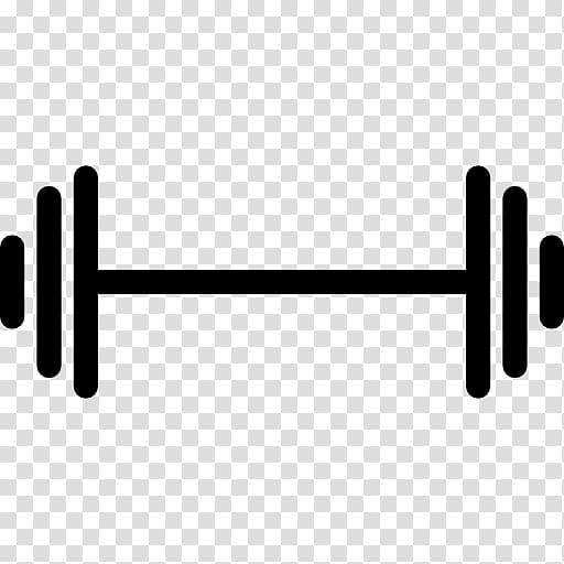 clip black and white Dumbbell physical fitness . Barbell clipart weight training