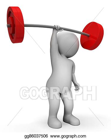 clip royalty free library Lifting clipart exercise. Stock illustration weight means.