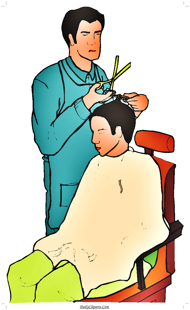 vector free library Cutting hair saloon image. Barber clipart
