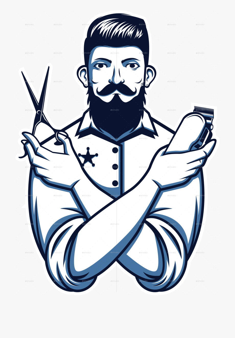 svg royalty free Beard fancy man png. Barber clipart