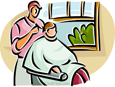 vector freeuse Haircut clipart first haircut. Female barber free on