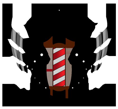 graphic black and white Barber clipart mens haircut. Boyd s barbershop carlton.