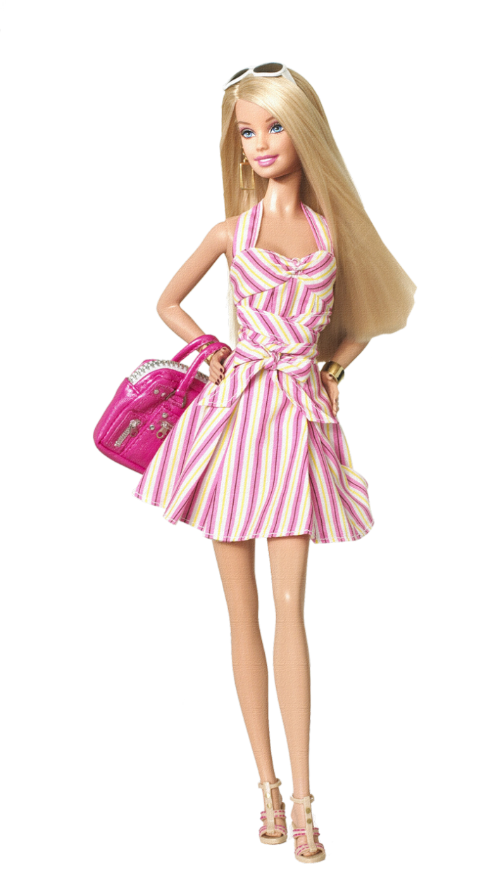 clip black and white stock Barbie Doll PNG Image