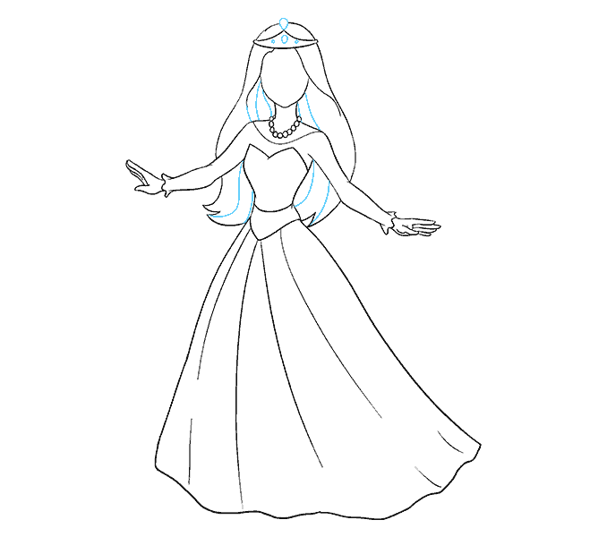 svg library How to Draw a Cartoon Princess in a Few Easy Steps